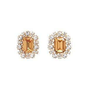 Forever 21 Gold Orange Halo Statement Earrings